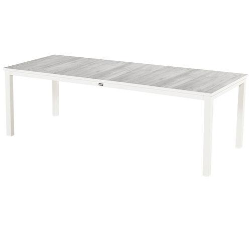 Hartman Comino Aluminium Gartentisch 220cm Weiß - Keramisch