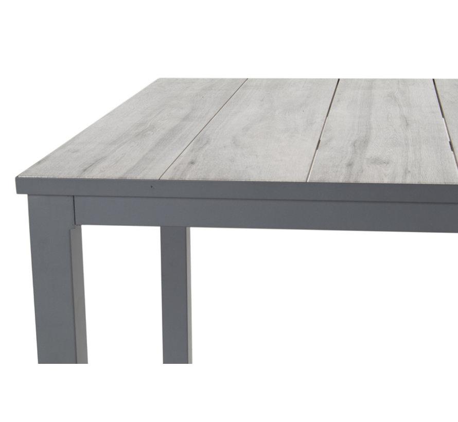 Comino aluminium tuintafel 160cm dining Antraciet - Keramiek