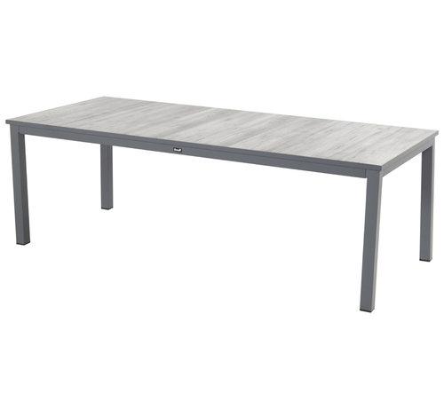 Hartman Comino aluminium tuintafel 220cm dining Antraciet - Keramiek
