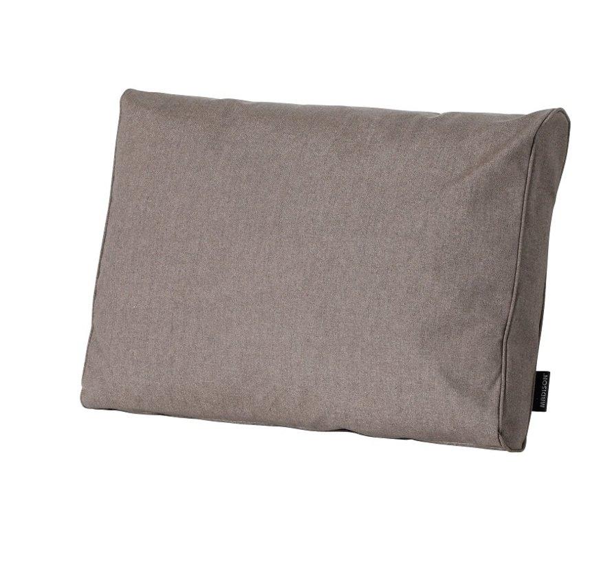 Outdoor Oxford Rückenkissen für Loungemöbel und Garnitur 60 x 43cm - Taupe