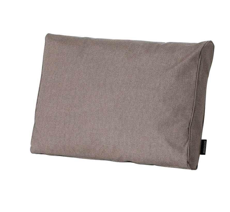 Outdoor Oxford rugkussen voor loungeset of tuinset 60 x 43cm - Taupe