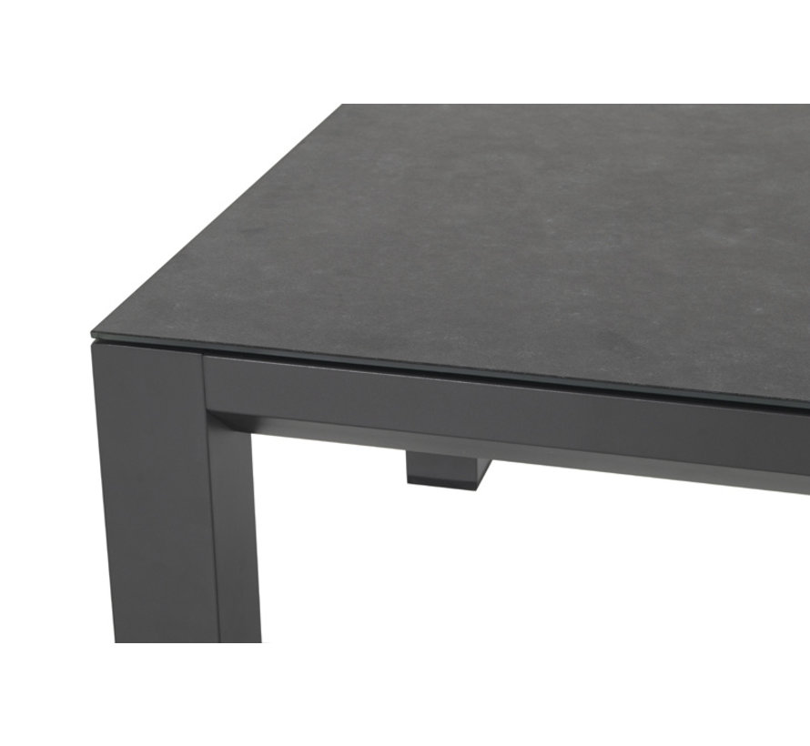 Barrosa aluminium loungeset Antraciet met loungetafel