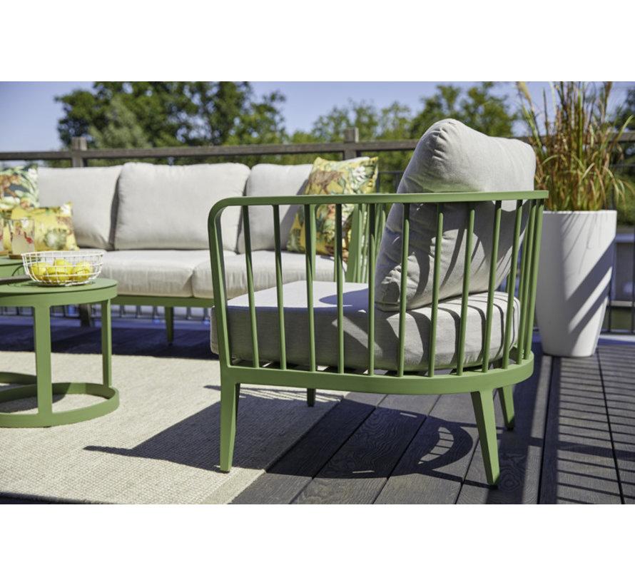 Bolivia aluminium loungeset Gras Grün mit loungetisch