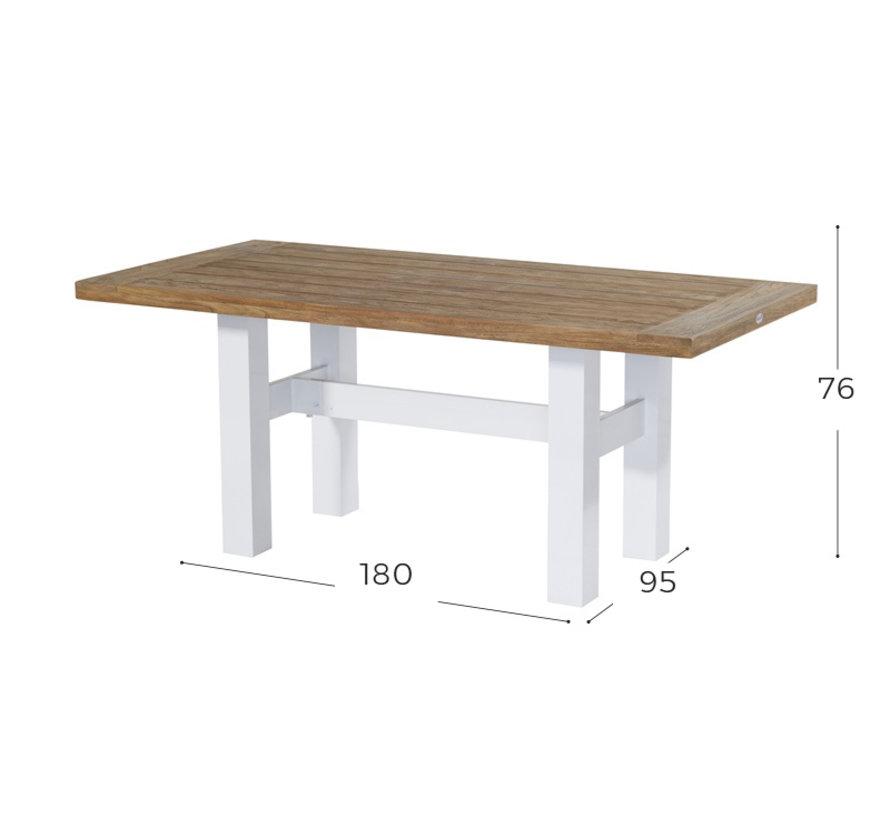 Sophie Yasmani Teakholz Tisch 180cm - Weiß