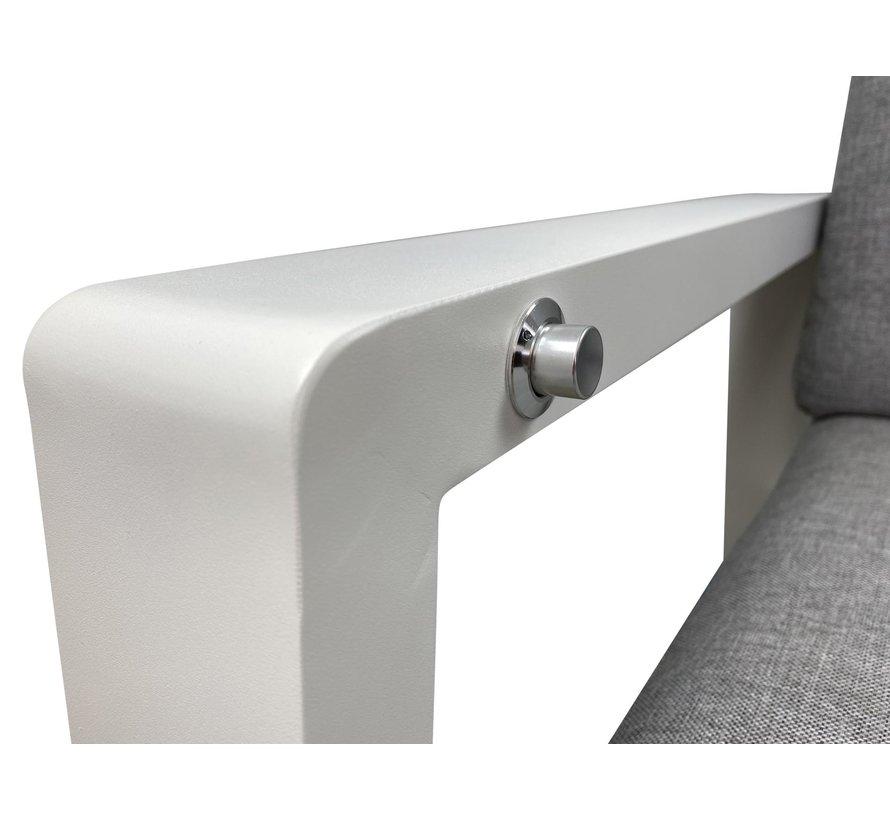 PAZOON Como Lounge verstellbarer Gartenstuhl mit Hocker | Weiß