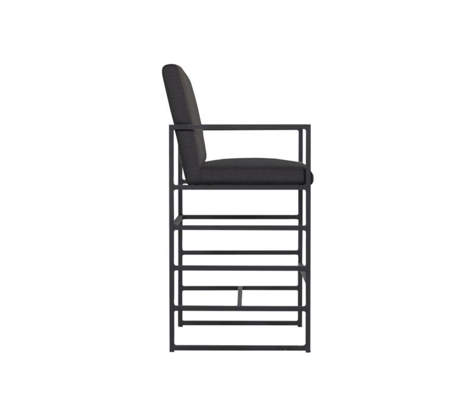 Amsterdam möbel aluminium 5-teilige Barset   Anthrazit
