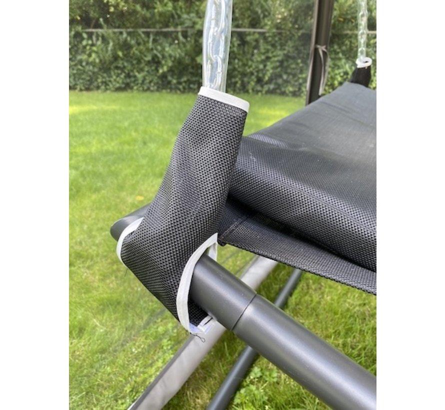 XL Hängematte mit klamboe antrazit