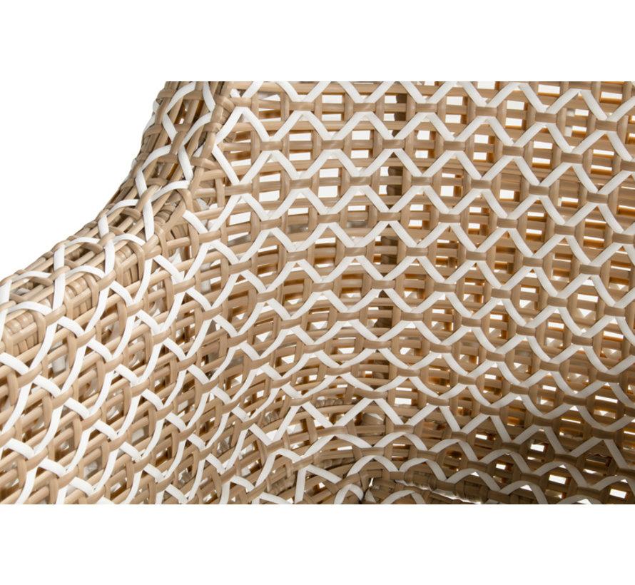 Hartman Delphine Dining tuinstoel met aluminium onderstel | Beige