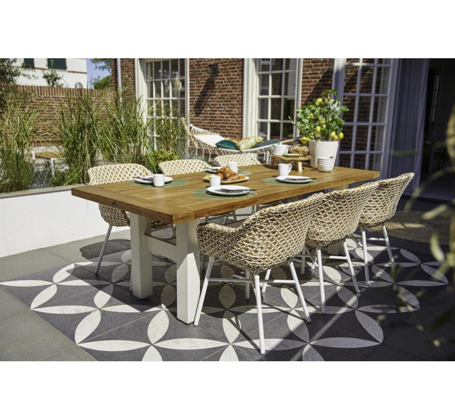 Hartman Delphine Dining Gartensessel mit aluminium unterstell | Beige