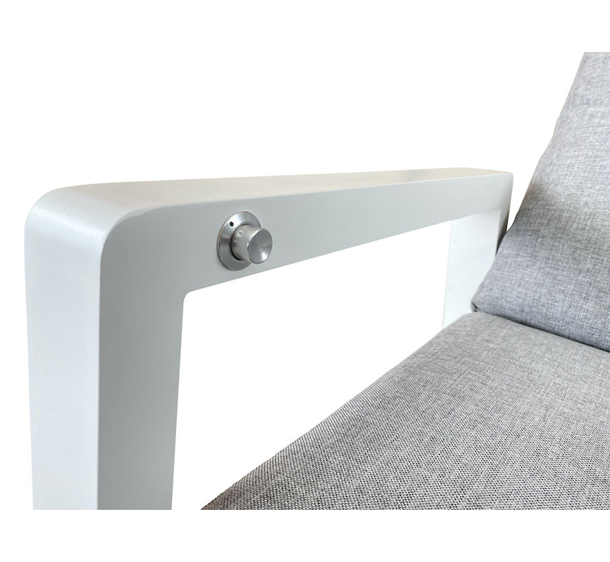 PAZOON Como Lounge verstelbare tuinstoel Aluminium   Wit