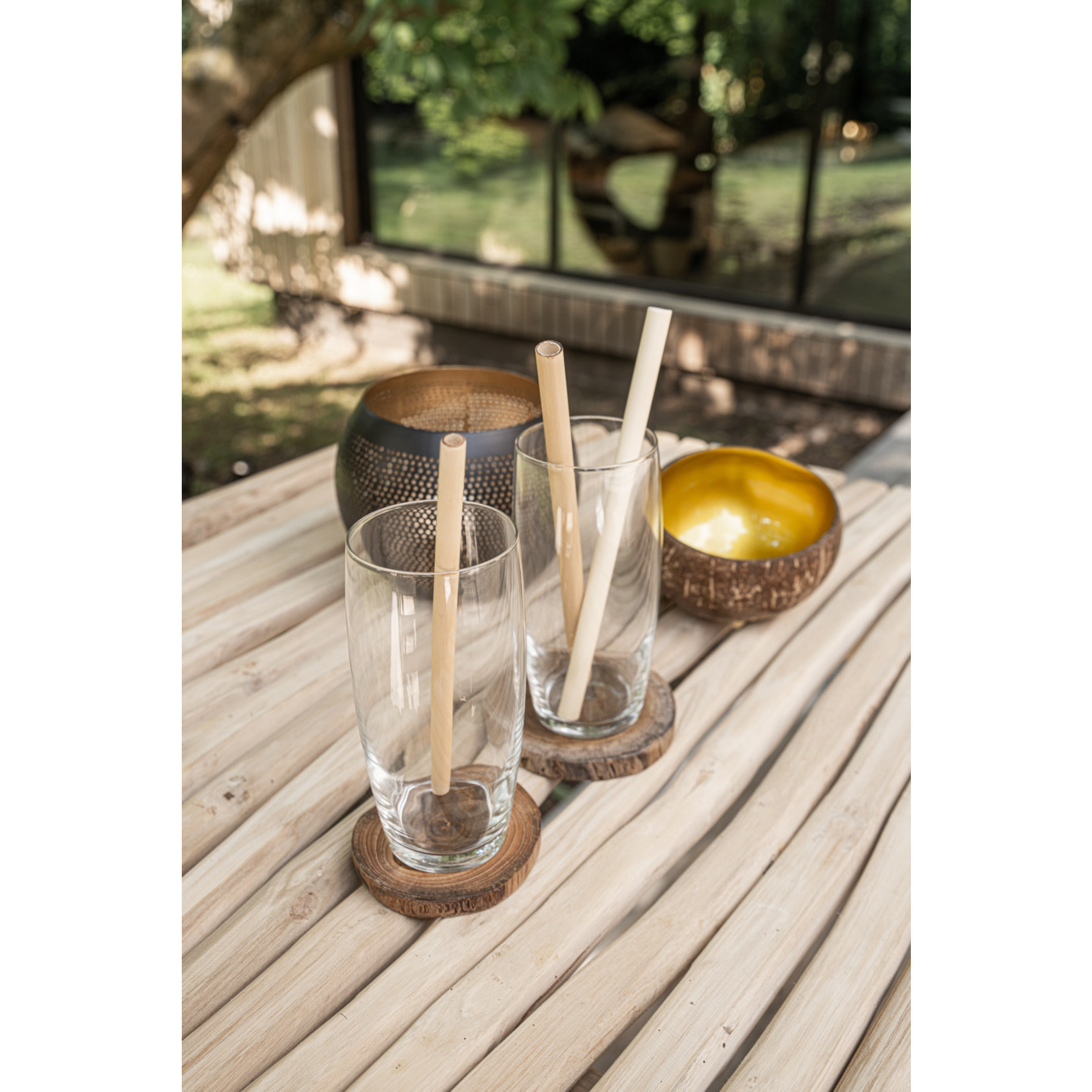 Bazar Bizar The Bamboo Straws - Set of 10 With Cleaning Brush