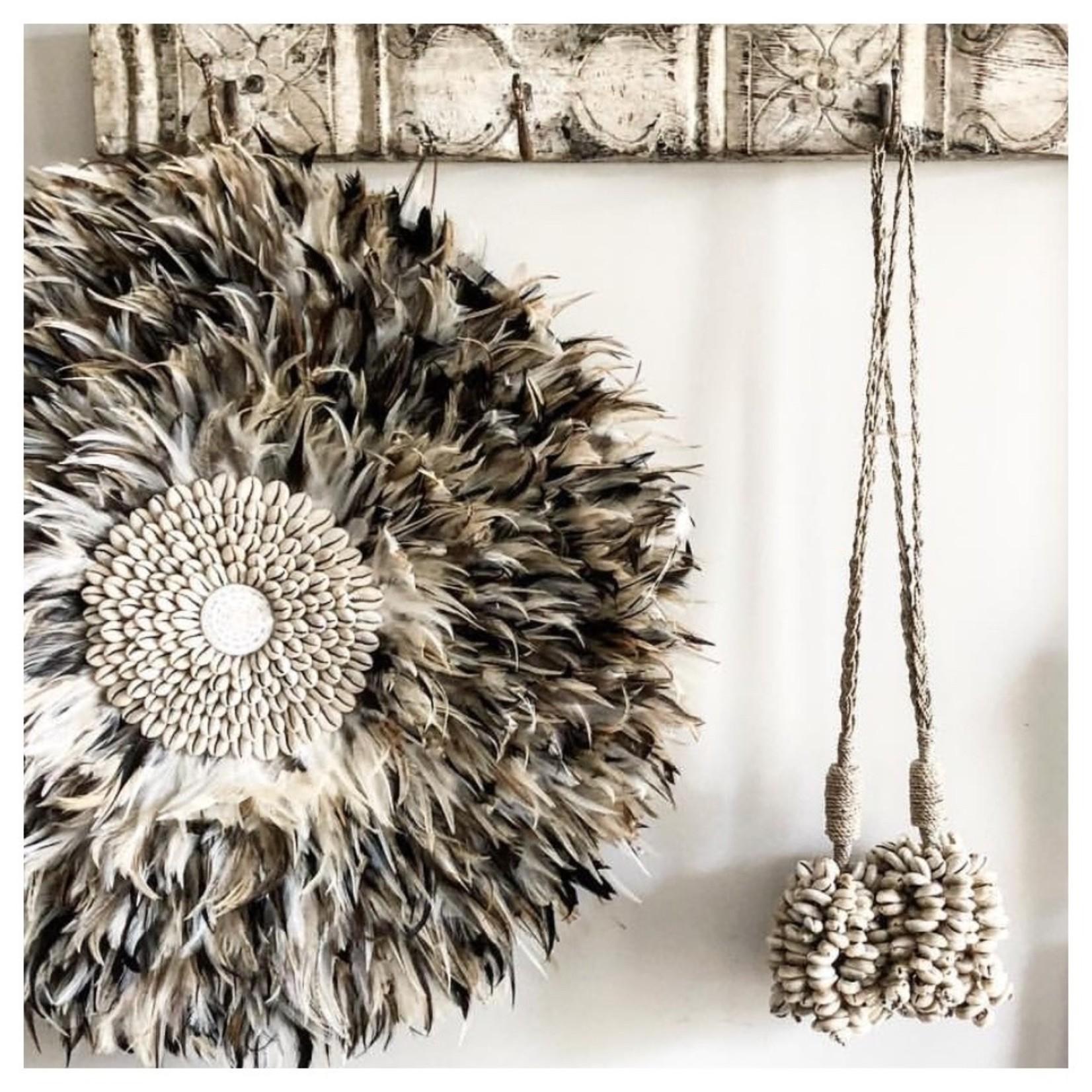 Bazar Bizar De Door Shell Cowrie Hangdecoratie - Naturel