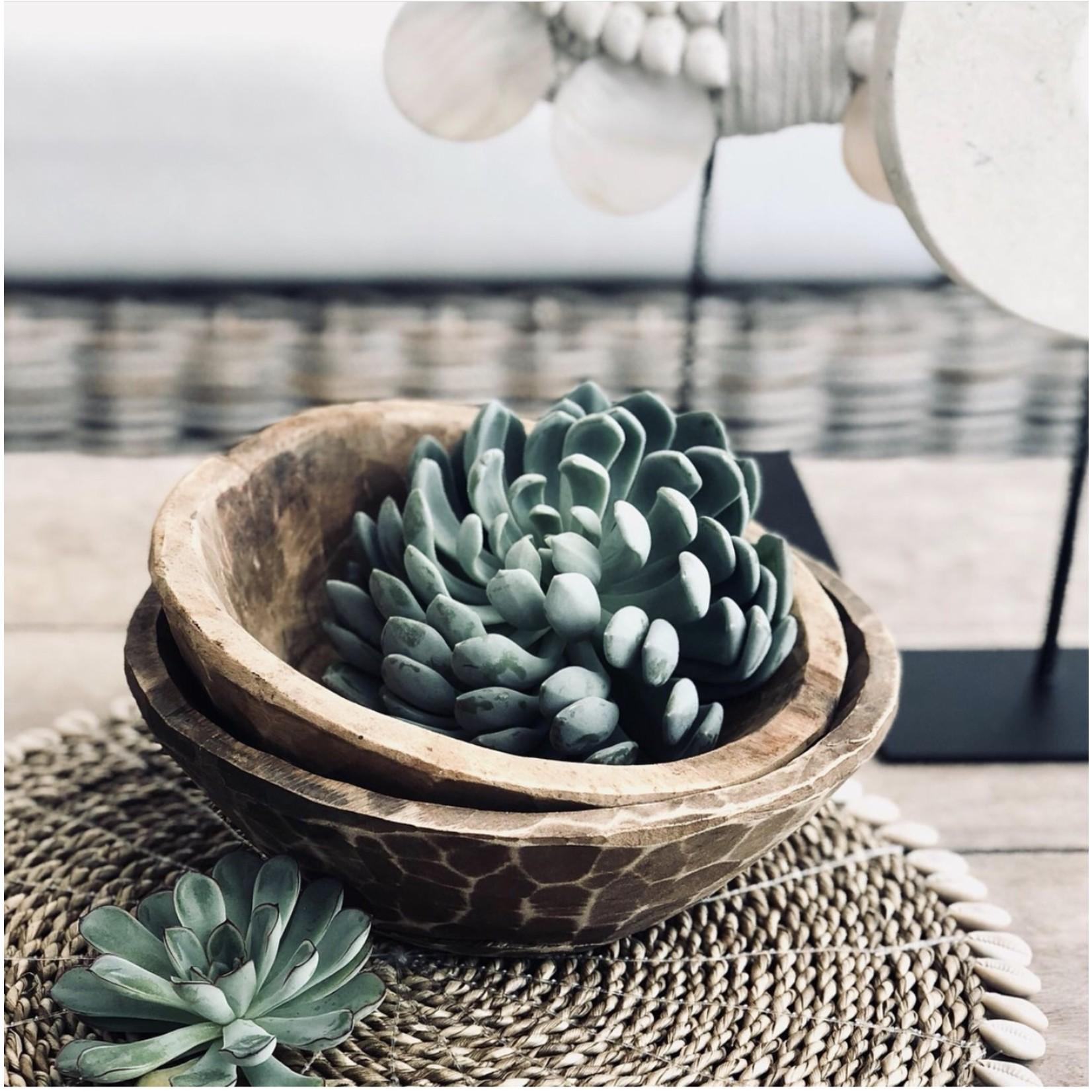 Bazar Bizar De Seagrass Shell Placemat - Naturel