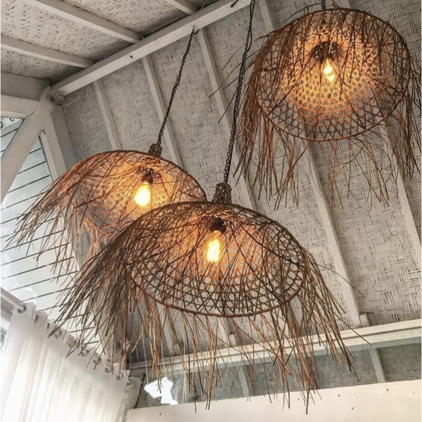 Bazar Bizar De Mykonos Hanglamp - Naturel - M