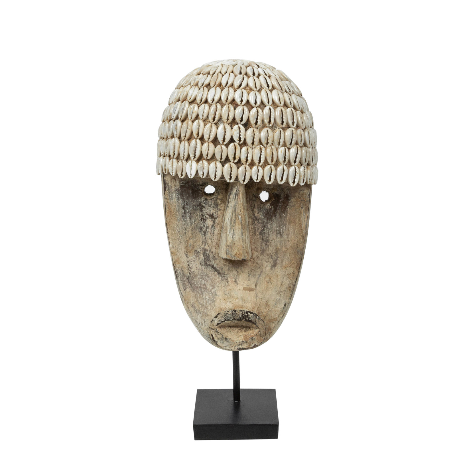 Bazar Bizar Het Cowrie Masker on Stand - Medium
