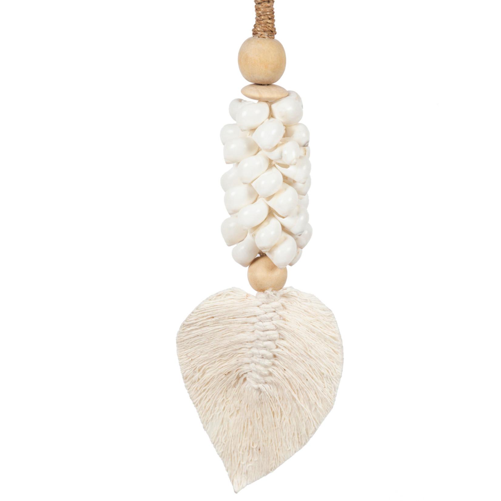 Bazar Bizar De Leaf & Shell Hangdecoratie - Wit