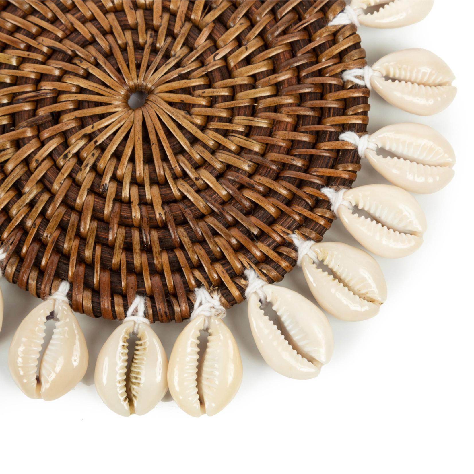 Bazar Bizar De Colonial Shell Onderzetter - Naturel Bruin