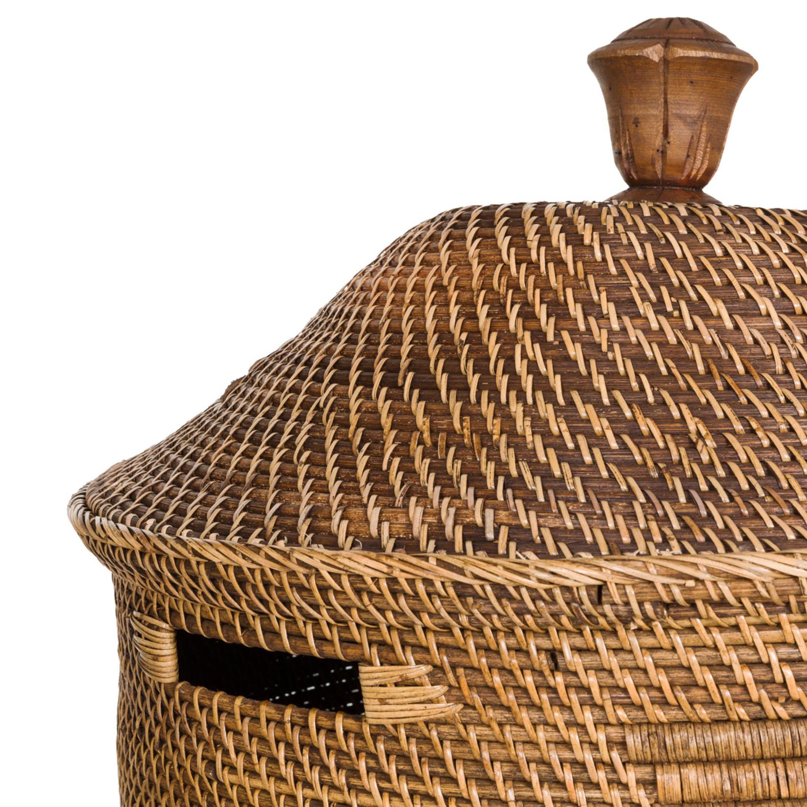 Bazar Bizar De Colonial Wasmand - Naturel Bruin - XL