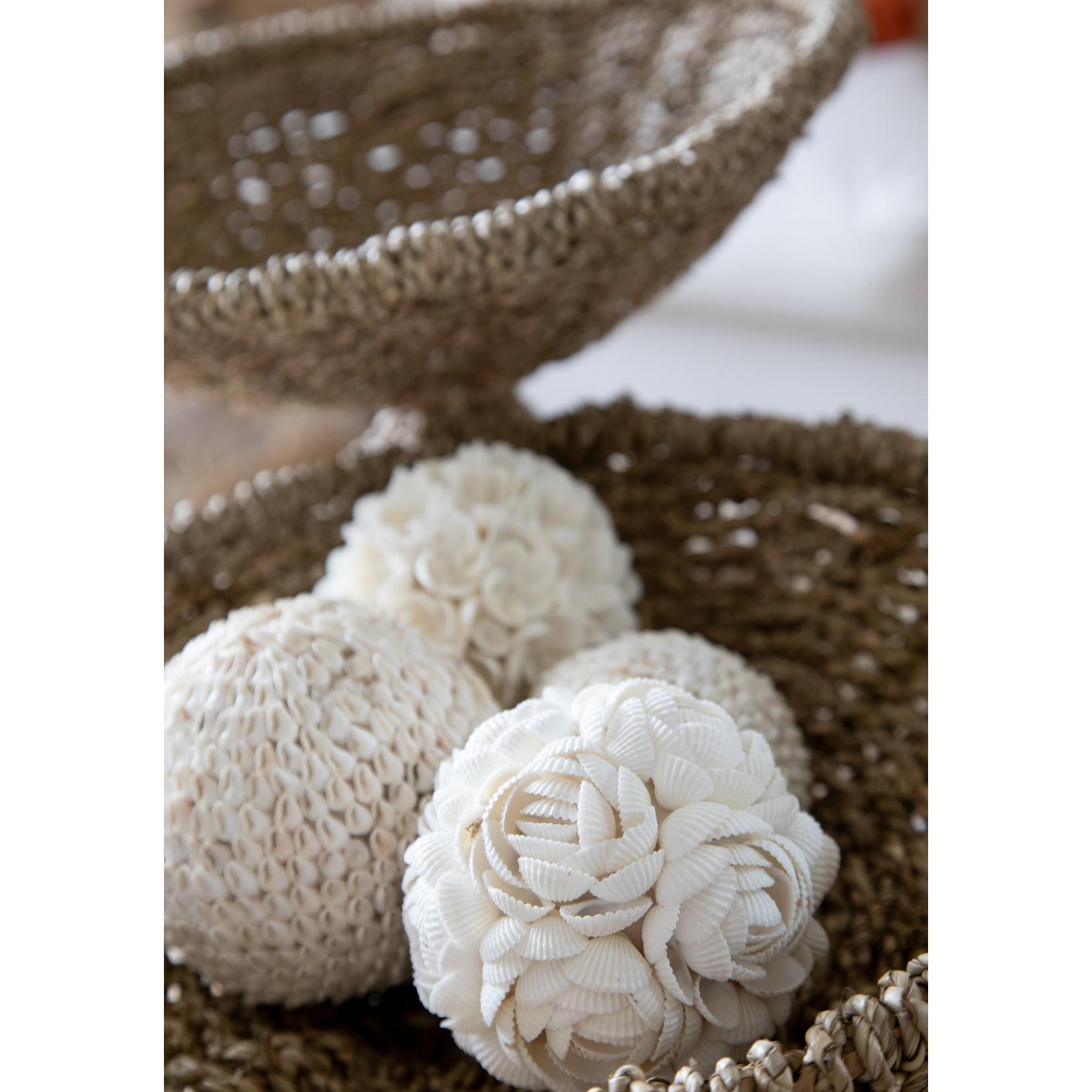 Bazar Bizar De Flower Shell Bal Hanger - Wit - L