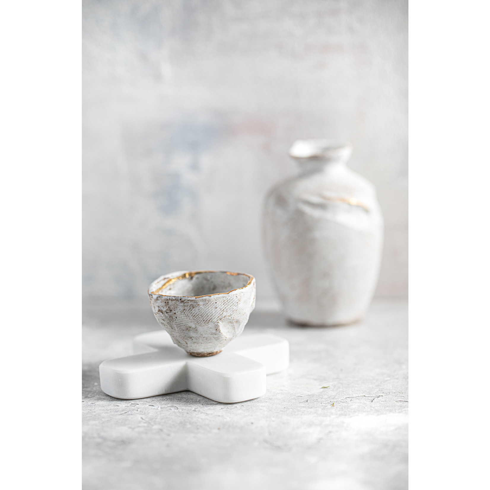 Bazar Bizar De Marmeren Pannenonderzetter - Wit