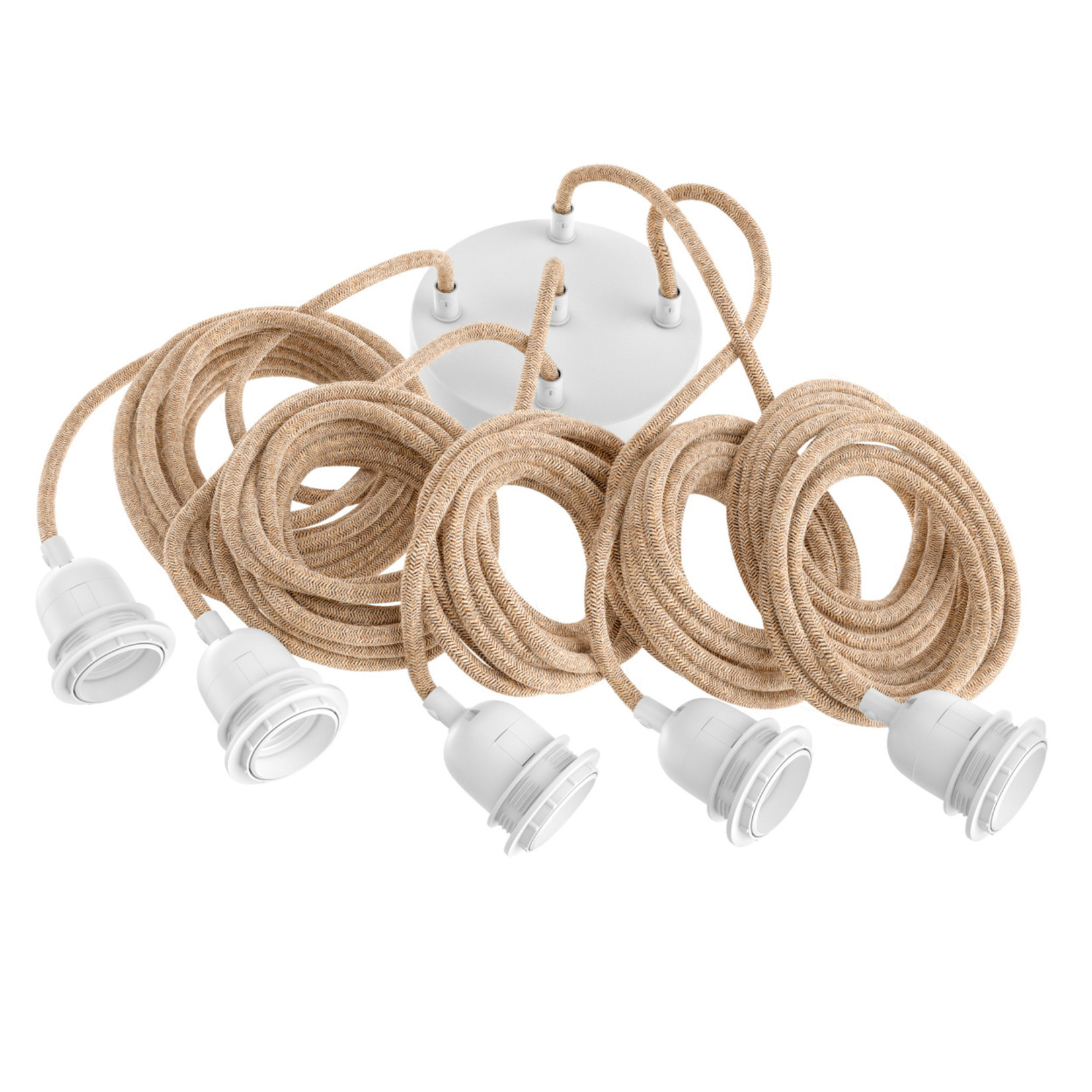 Hoopzi Fitting Lamps Ceiling - Natural White - 5 Fittings