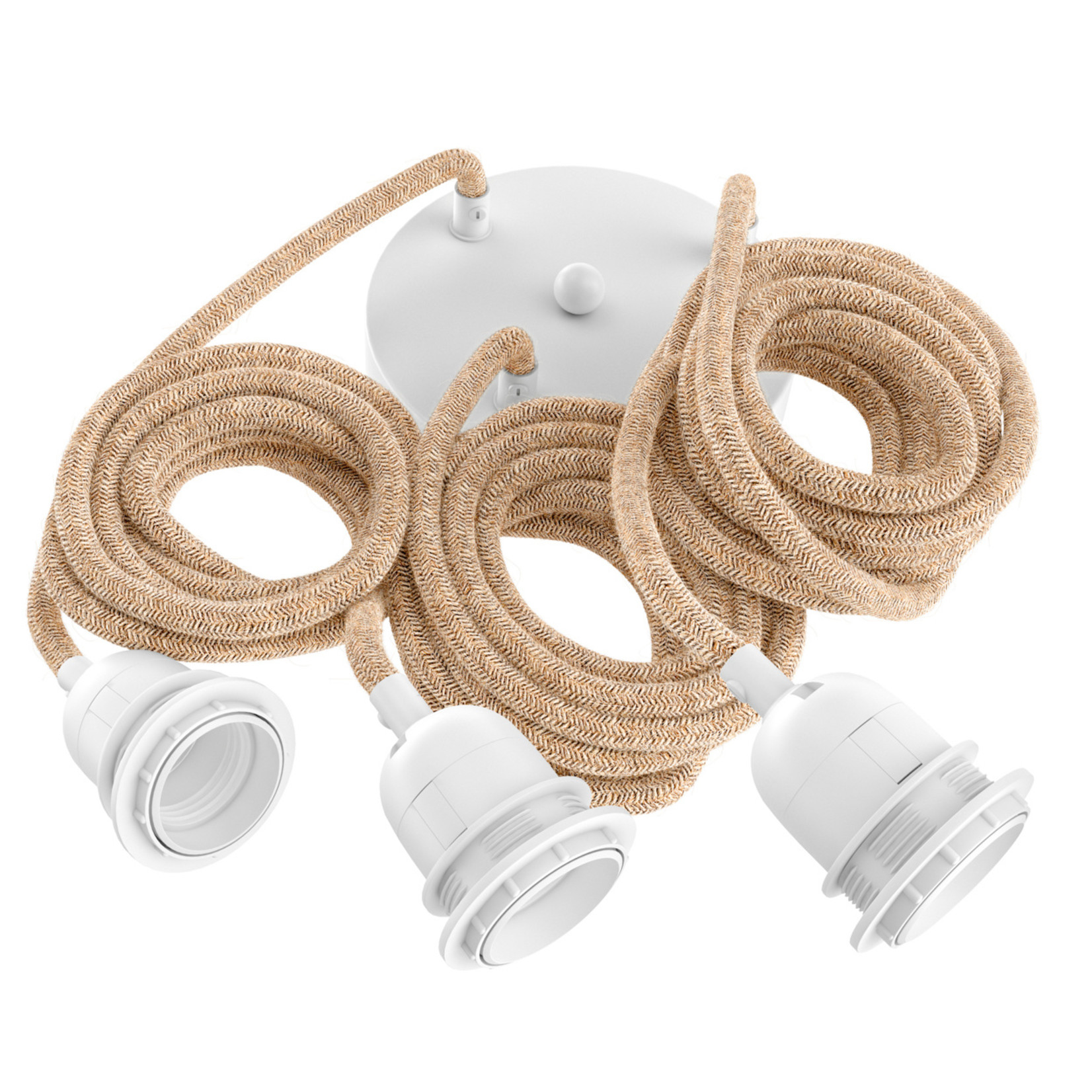 Hoopzi Fitting Lamps Ceiling - Natural White - 3 Fittings