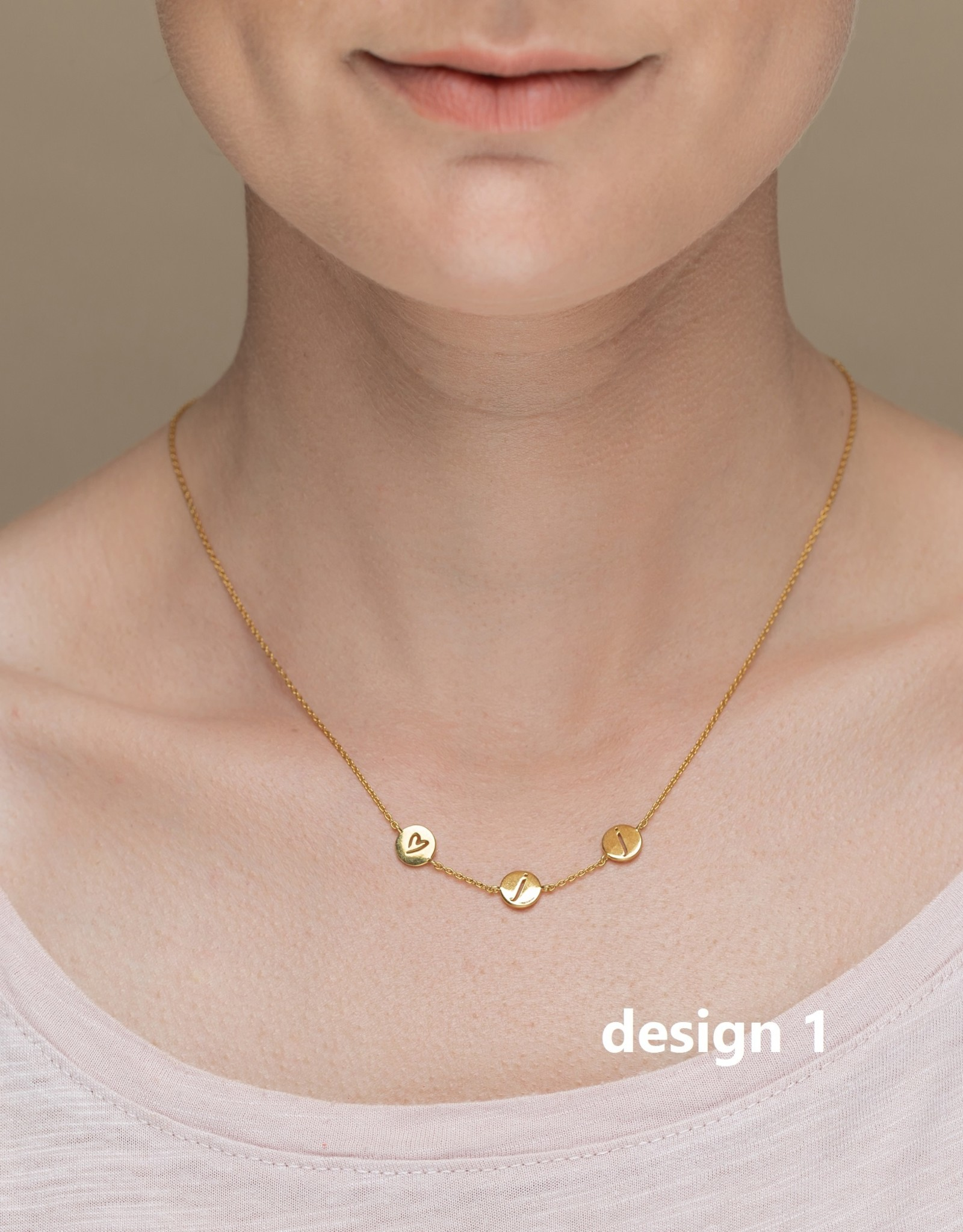 Design your necklace with 3 charms