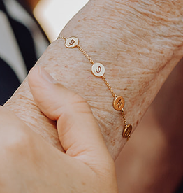 Armband met 5 bedels
