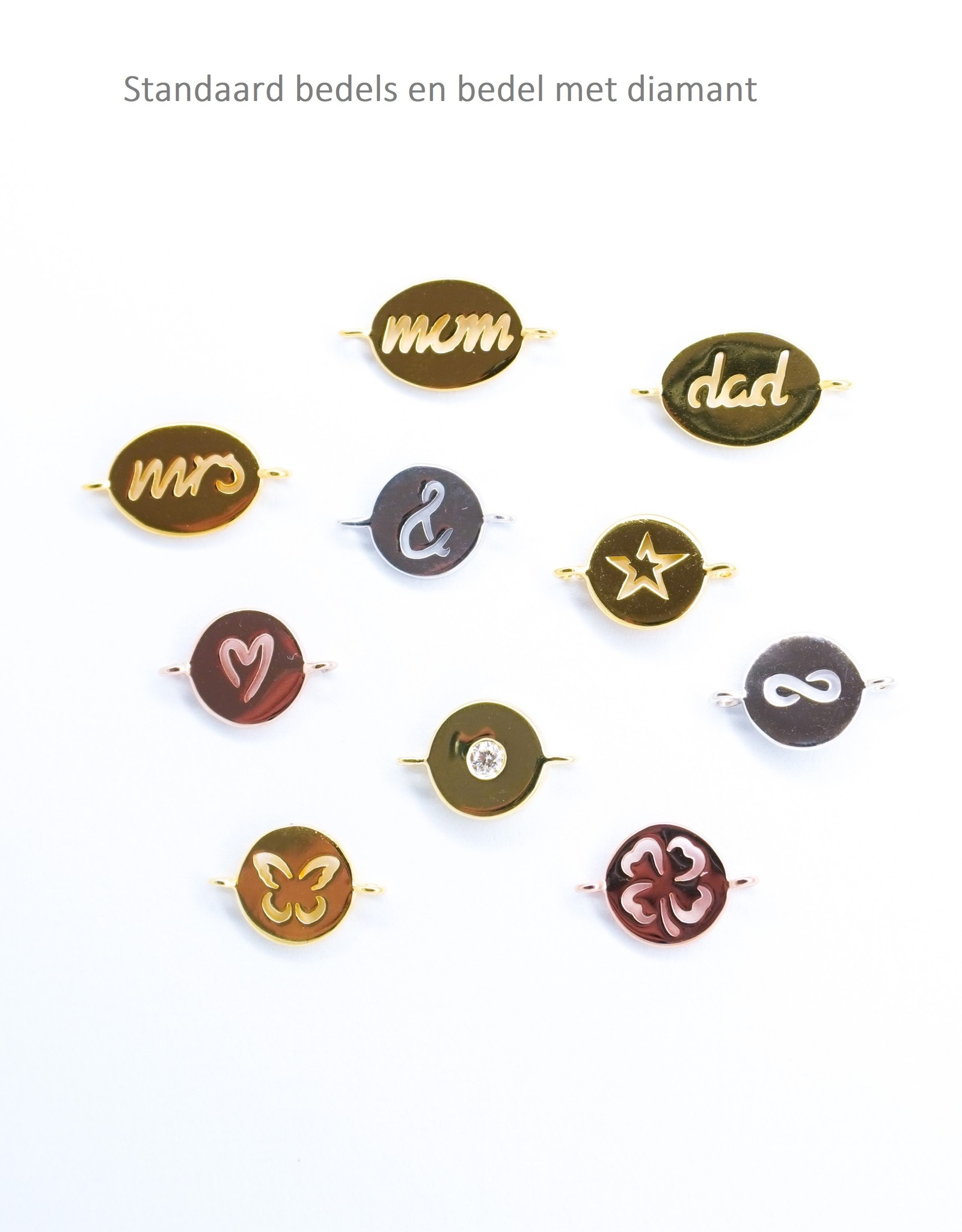 Design your bracelet with 5 charms