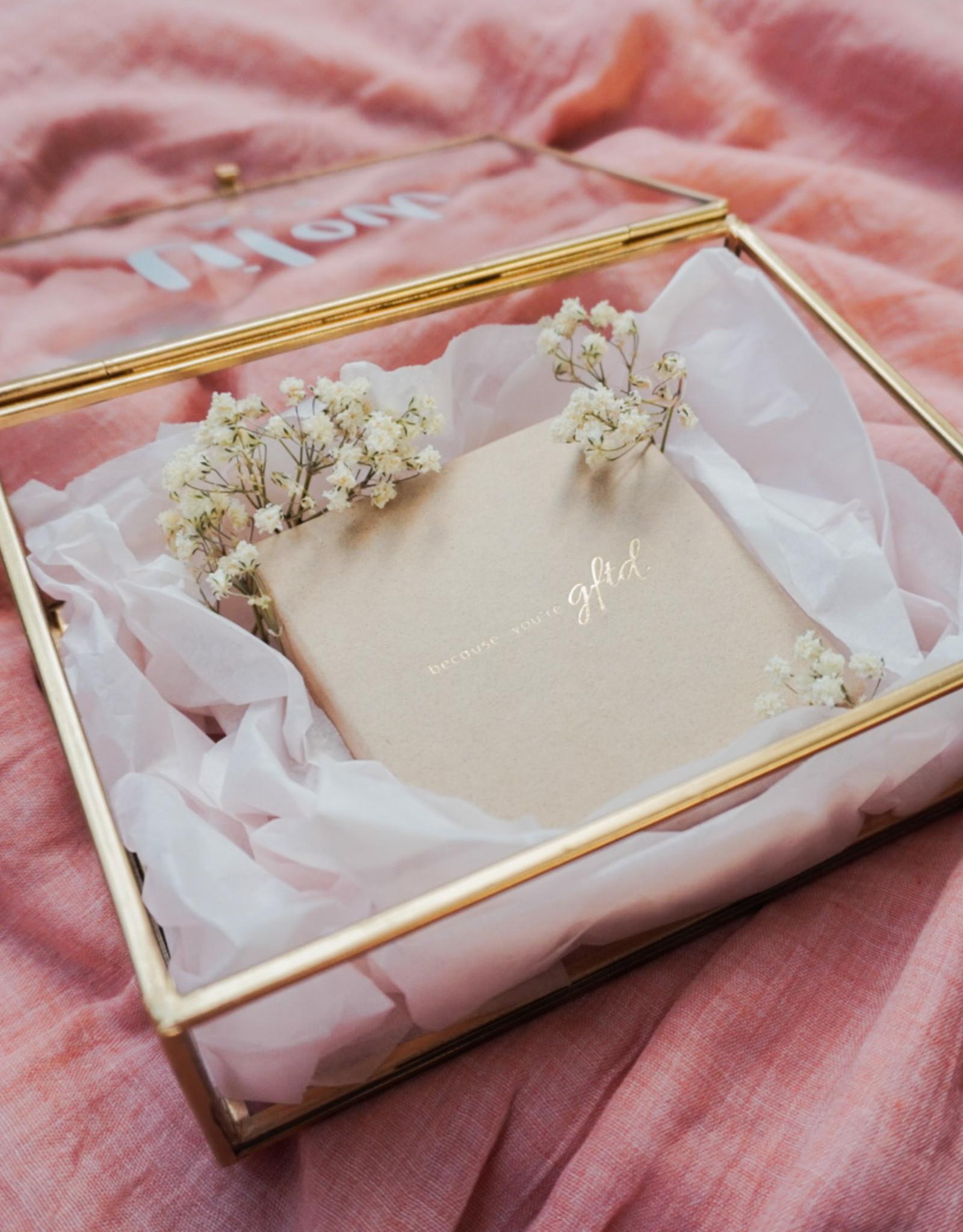 Your gftd. jewelry in a unique memory box