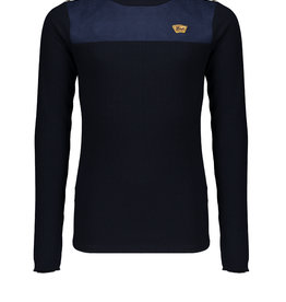 NoBell Nobell Kolet rib turtle neck tshirt with fancy buttons at shoulder