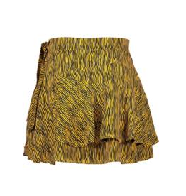 NoBell Nobell' Noa fancy drape short Zebra AOP skirt