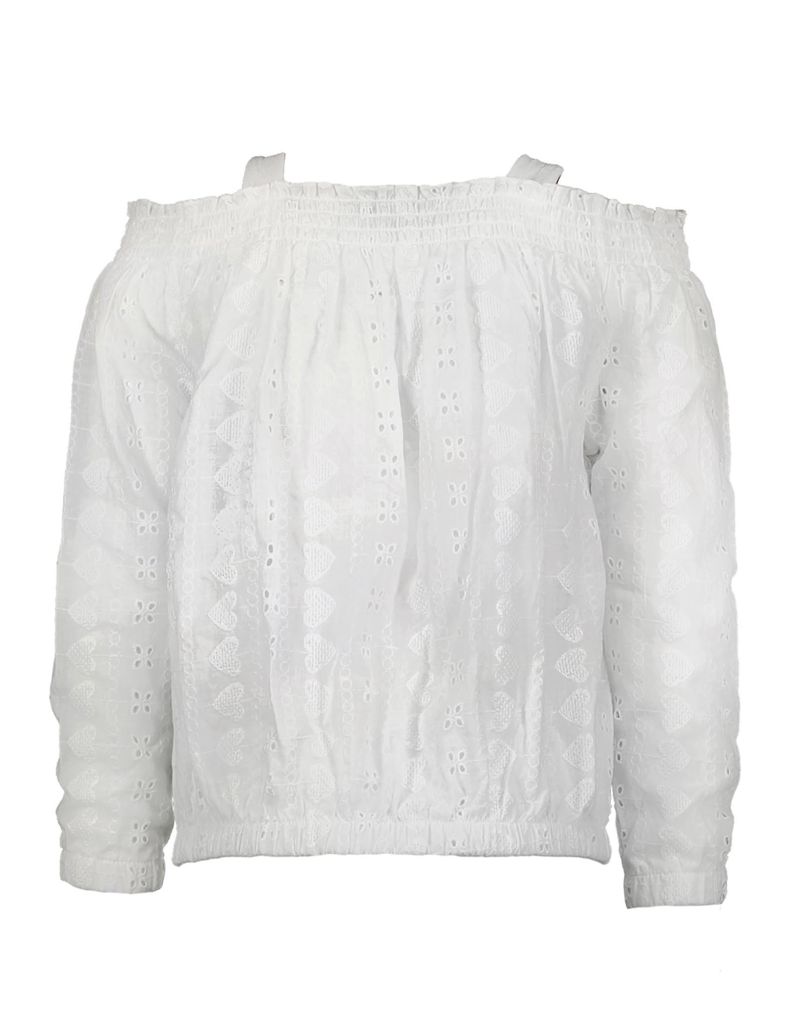 Moodstreet Moodstreet blouse 5120  broderie warm white