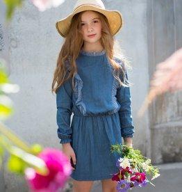 Moodstreet Moodstreet denim jurkje 5840 soft blue