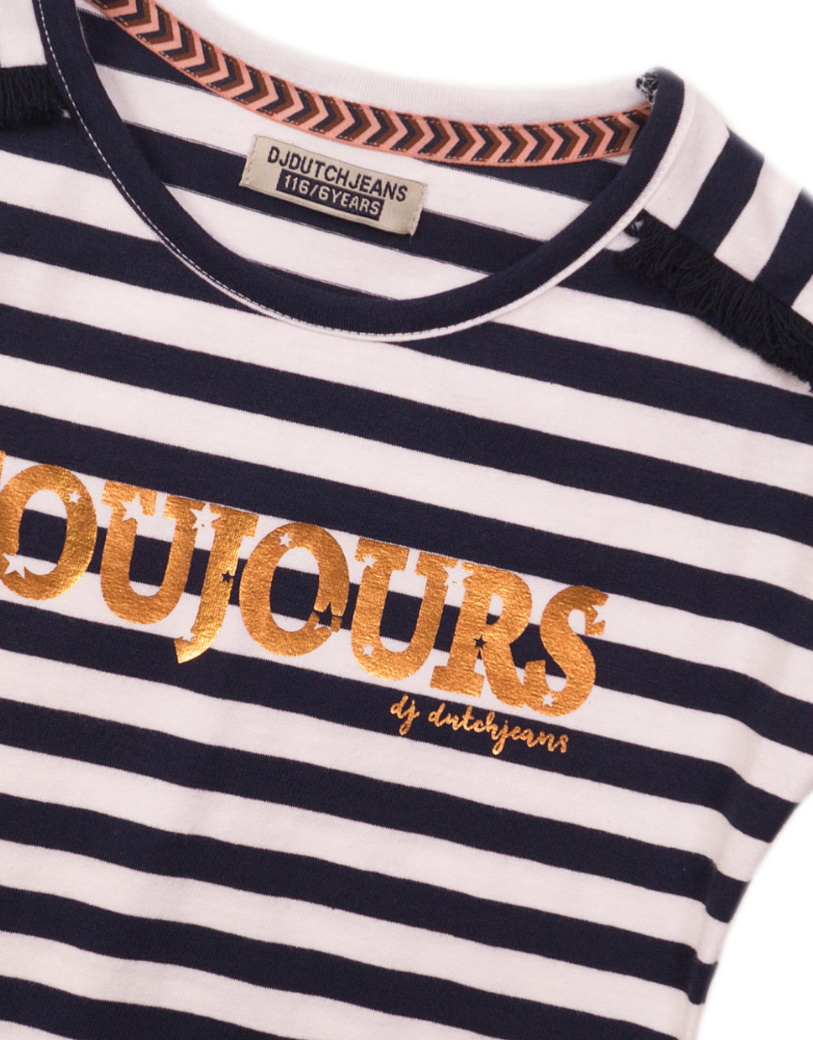 DJ Dutchjeans DJ Dutchjeans shirt 38010 navy stripe
