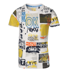 Quapi Quapi shirt FAIKO white graffiti