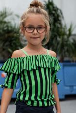 Quapi Quapi blouse Faylena dark blue stripe