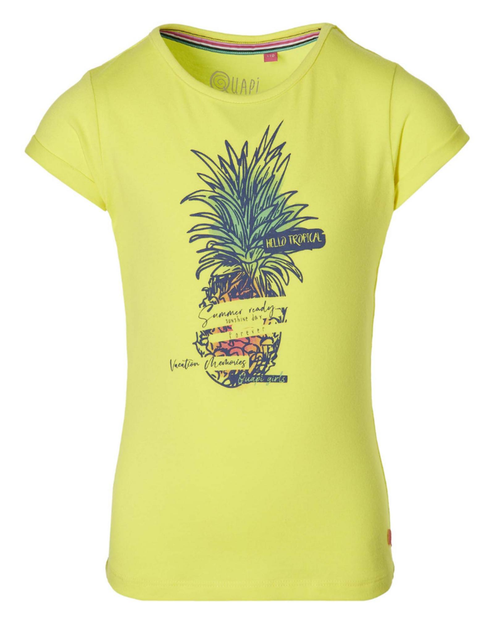 Quapi Quapi shirt Fauna lemon yellow