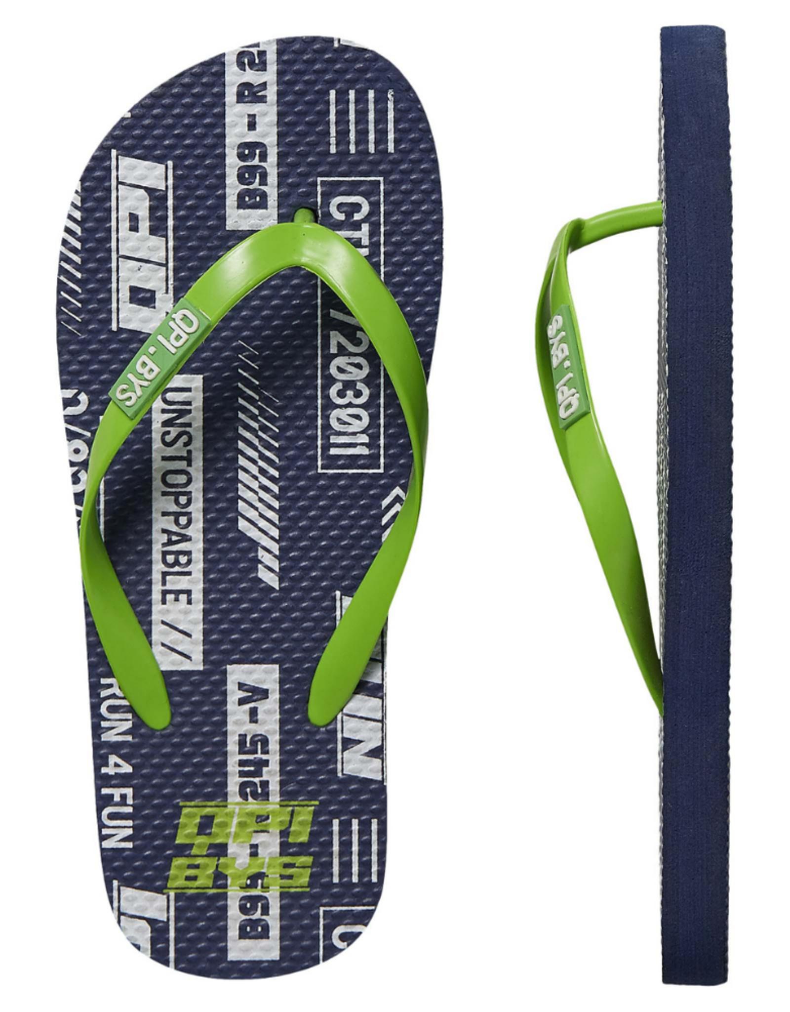 Quapi Quapi slippers Fedja dark blue text