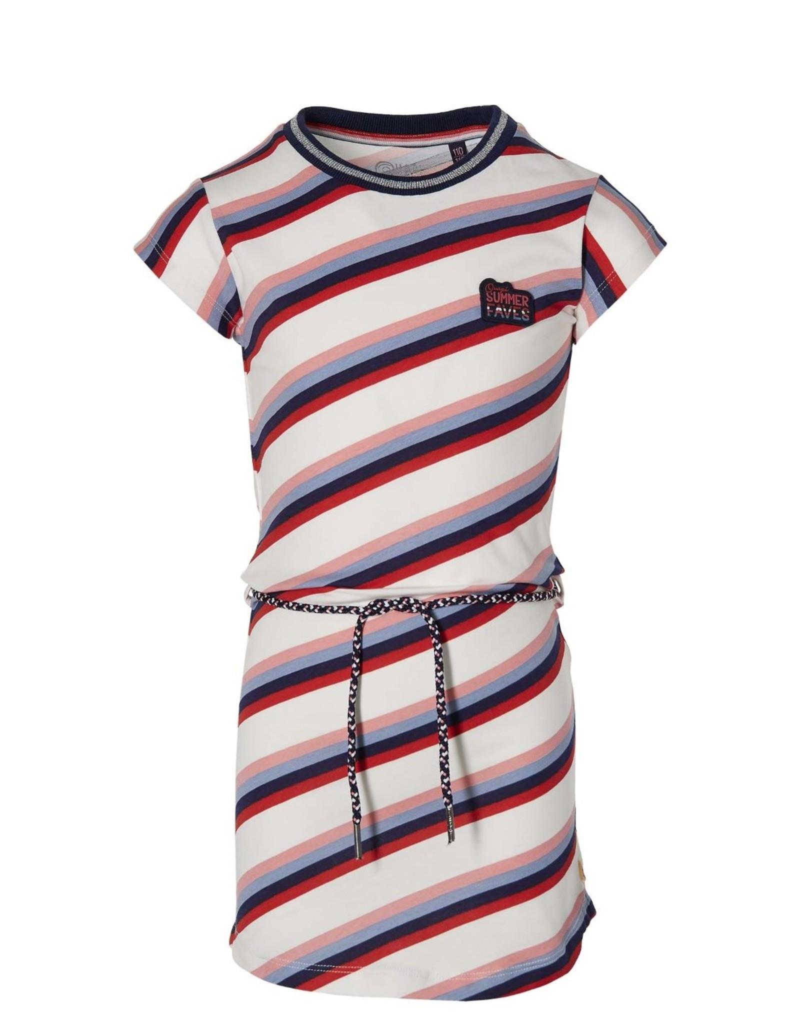 Quapi Quapi jurkje Fab White/ Multi stripe