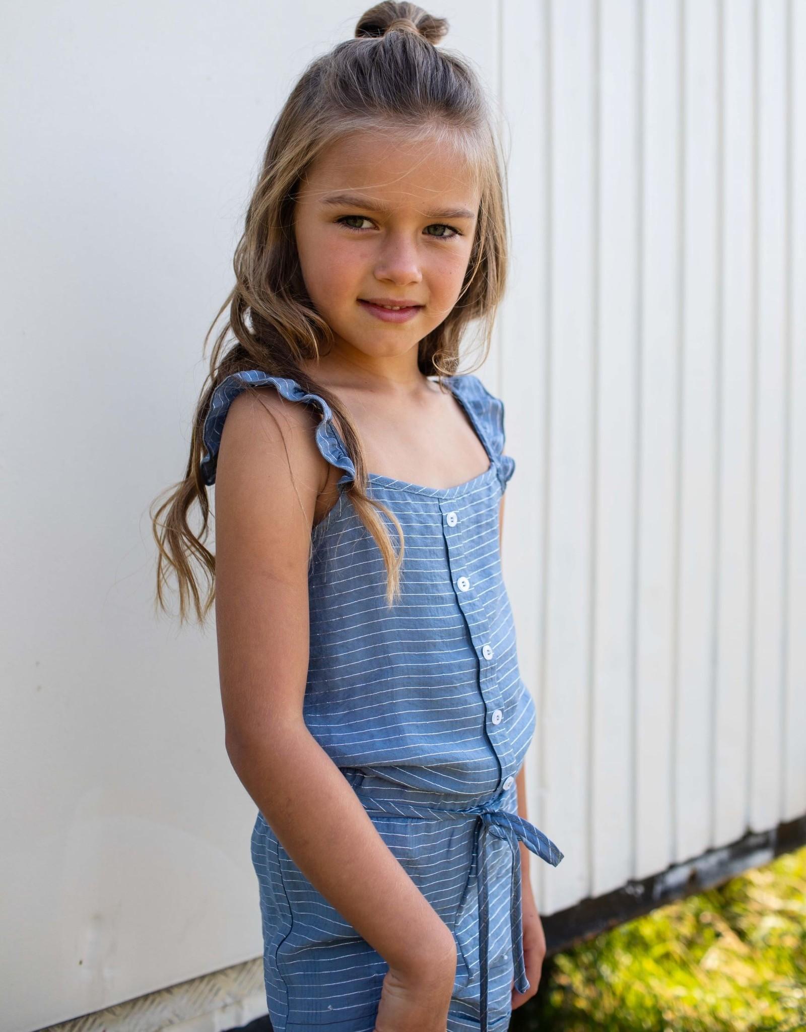 Quapi Quapi jumpsuit Fetske blue stripe