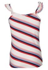 Quapi Quapi top Feden white multi stripe