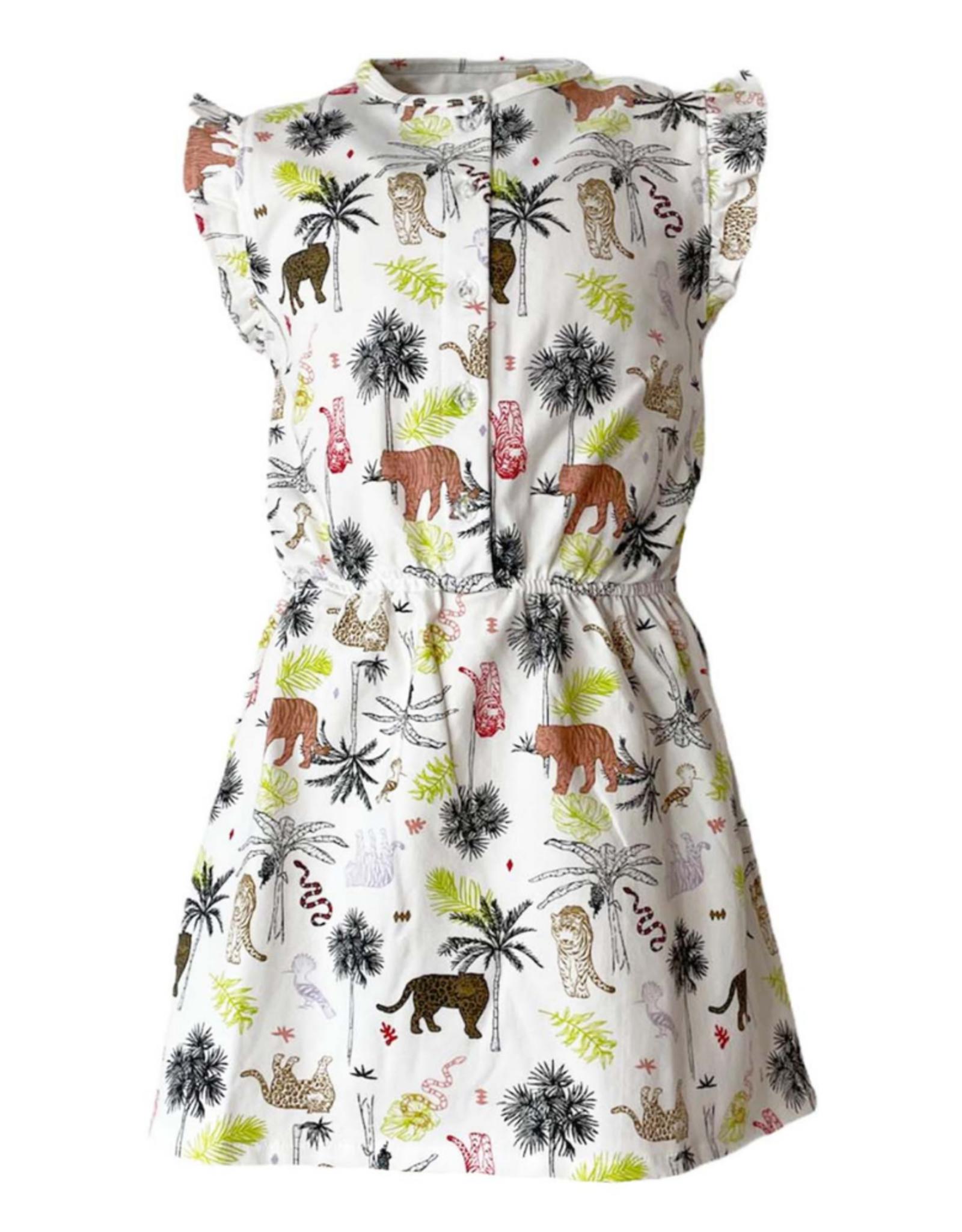 Topitm TOPitm jurk Sammy white/animal
