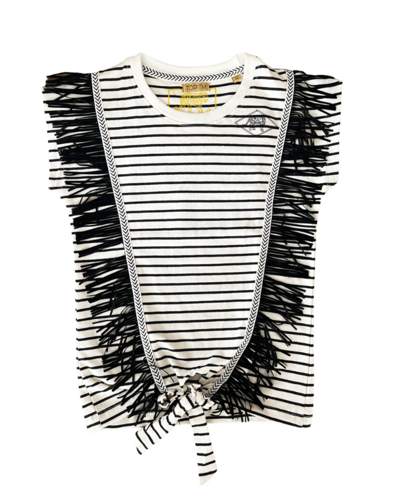 Topitm TOPitm shirt Colette streep black