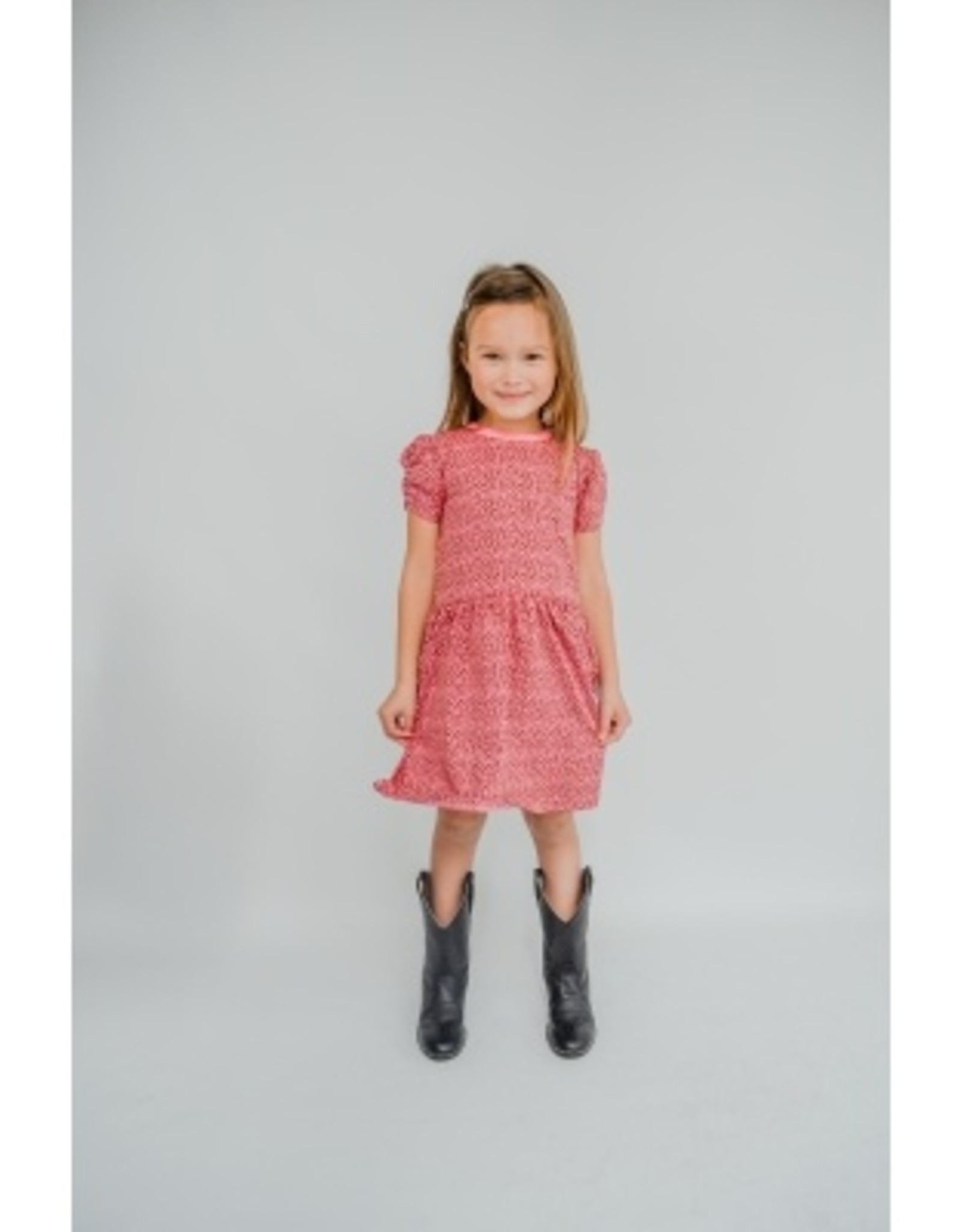 Shout it out Shout it Out smock dress brown/ pink panter