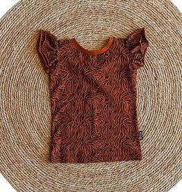 Shout it out Shout it Out shirt Zebra cognac