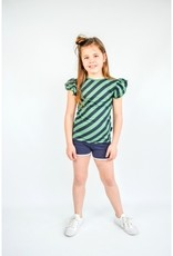 Shout it out Shout it Out shirt Cross strip green/ blue