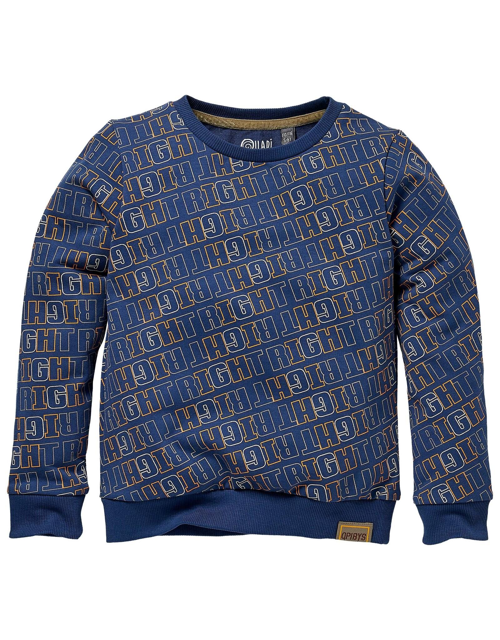 Quapi Quapi sweater Kerim aop blue force stripe