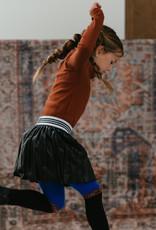 Topitm TOPitm skirt Misty plisee leather black