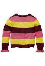 Quapi Quapi cardigan Kella bordeaux stripe